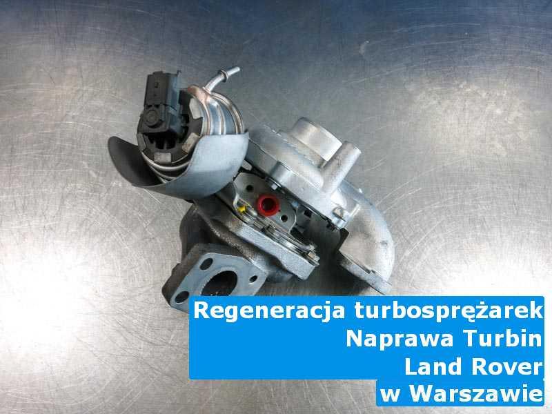 Turbo z samochodu Land Rover w pracowni regeneracji z Warszawy