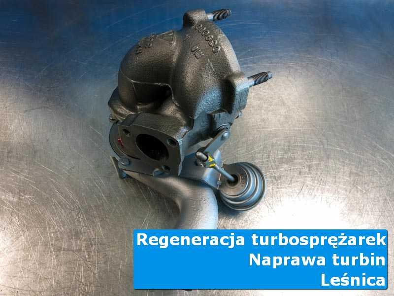 Turbosprężarka po wyważaniu w warsztacie w Leśnicy