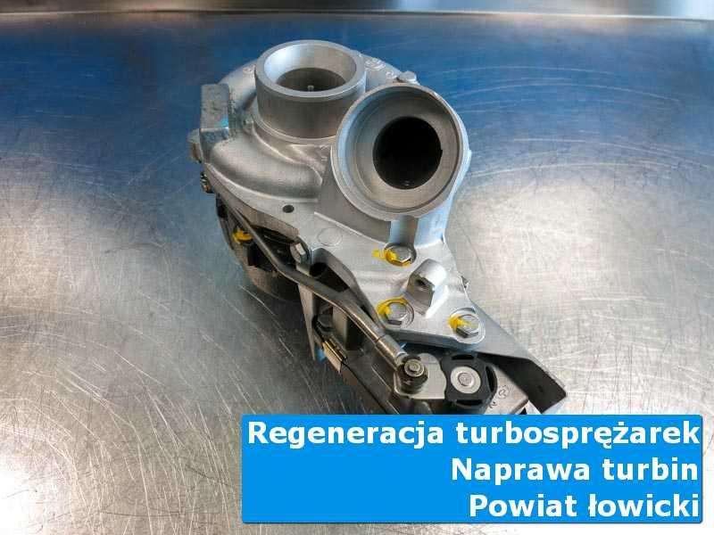 Turbosprężarka po naprawie w laboratorium, powiat łowicki