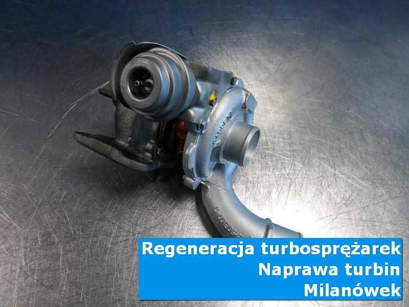 Układ turbodoładowania przed wymianą w pracowni w Milanówku