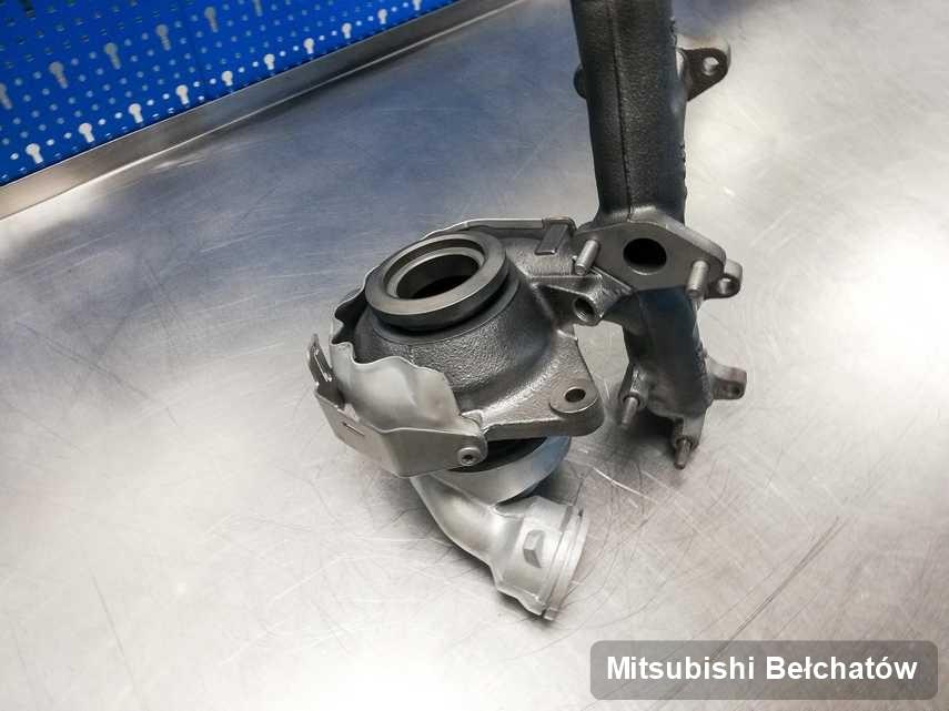 Wyremontowana w firmie zajmującej się regeneracją w Bełchatowie turbosprężarka do samochodu firmy Mitsubishi przygotowana w laboratorium wyremontowana przed wysyłką