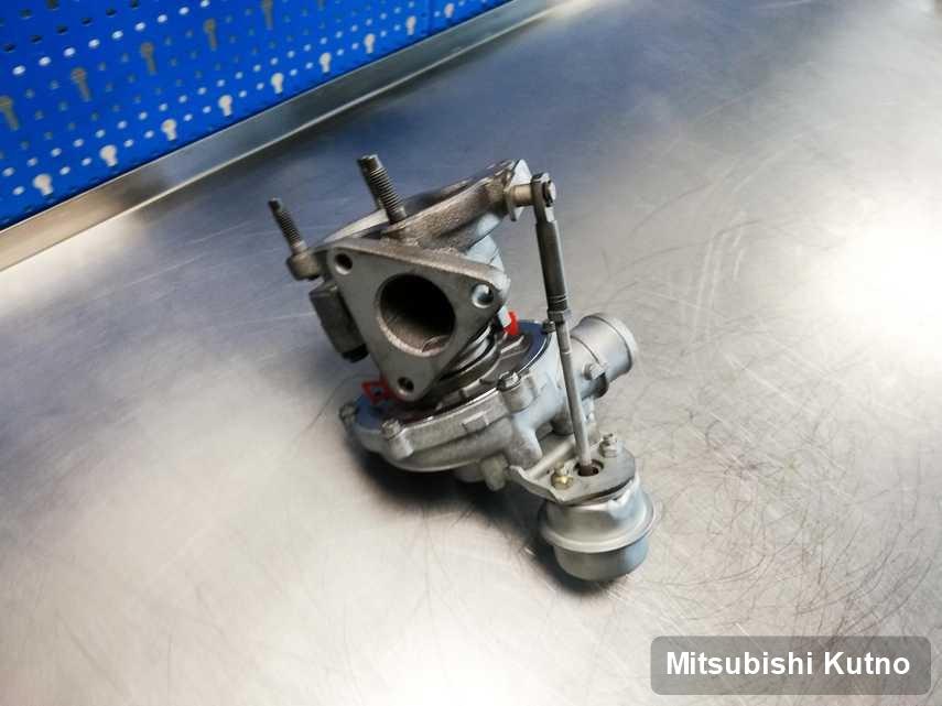 Zregenerowana w pracowni regeneracji w Kutnie turbosprężarka do aut  spod znaku Mitsubishi przyszykowana w pracowni naprawiona przed wysyłką