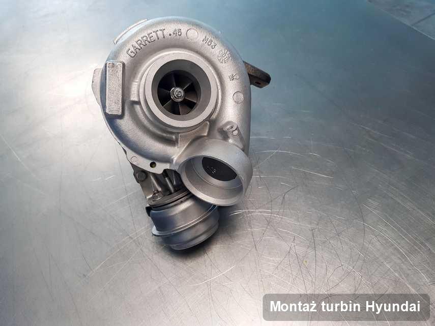 Turbina do samochodu osobowego spod znaku Hyundai po remoncie w firmie gdzie zleca się serwis Montaż turbin