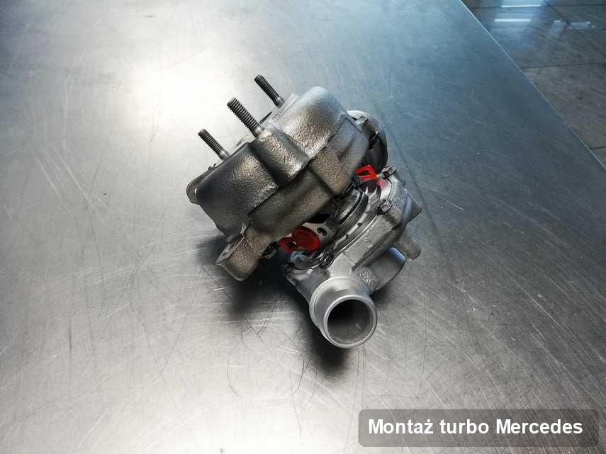 Turbosprężarka do pojazdu spod znaku Mercedes naprawiona w przedsiębiorstwie gdzie realizuje się serwis Montaż turbo