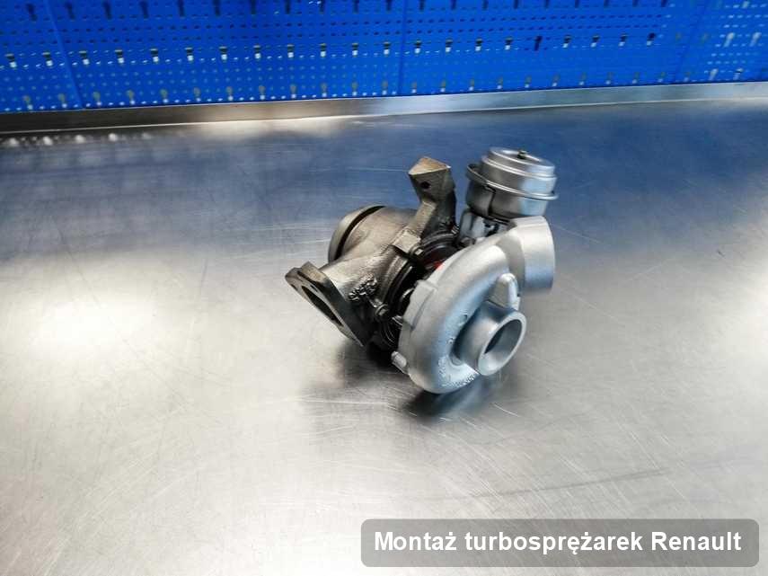 Turbosprężarka do samochodu firmy Renault naprawiona w laboratorium gdzie przeprowadza się  serwis Montaż turbosprężarek