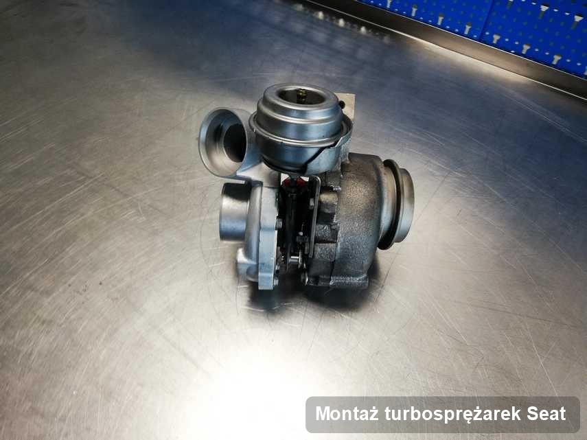 Turbina do osobówki firmy Seat po remoncie w przedsiębiorstwie gdzie wykonuje się serwis Montaż turbosprężarek