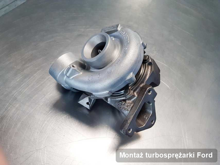Turbina do diesla spod znaku Ford po remoncie w pracowni gdzie zleca się serwis Montaż turbosprężarki