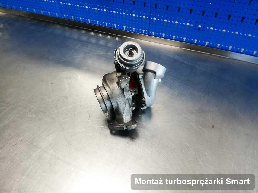 Turbina do samochodu producenta Smart zregenerowana w przedsiębiorstwie gdzie przeprowadza się  serwis Montaż turbosprężarki
