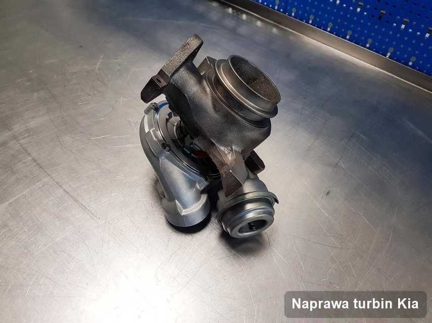 Turbosprężarka do osobówki firmy Kia wyremontowana w warsztacie gdzie realizuje się usługę Naprawa turbin