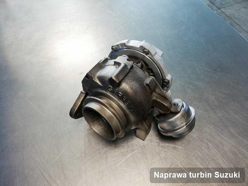 Turbosprężarka do samochodu osobowego marki Suzuki naprawiona w przedsiębiorstwie gdzie realizuje się serwis Naprawa turbin