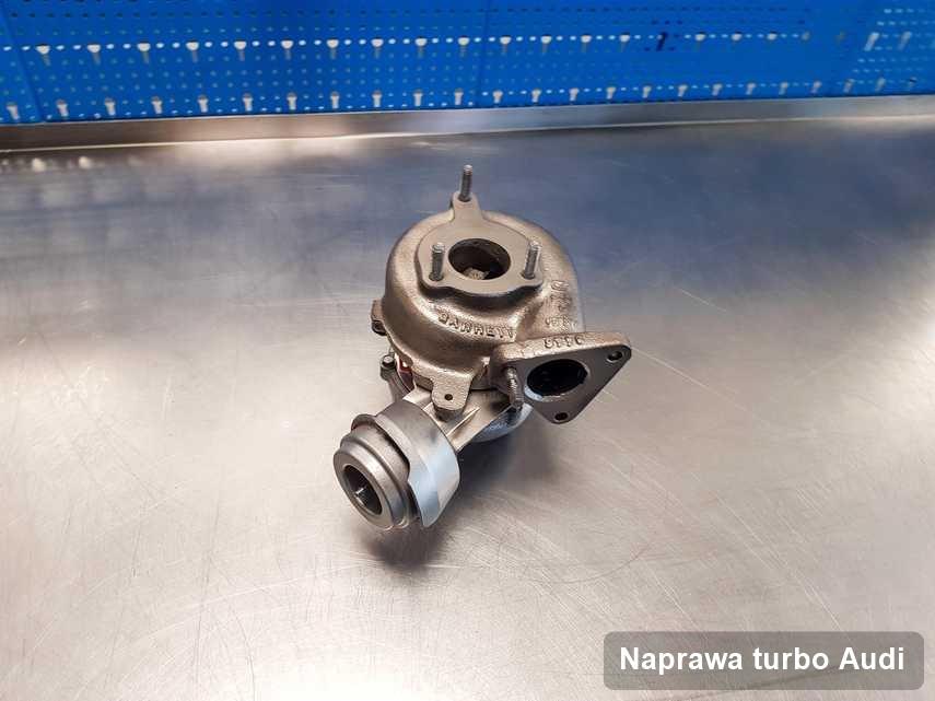 Turbosprężarka do pojazdu firmy Audi zregenerowana w pracowni gdzie zleca się serwis Naprawa turbo