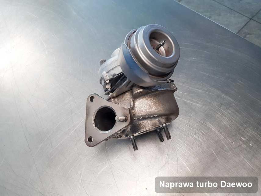 Turbosprężarka do osobówki firmy Daewoo zregenerowana w przedsiębiorstwie gdzie wykonuje się serwis Naprawa turbo