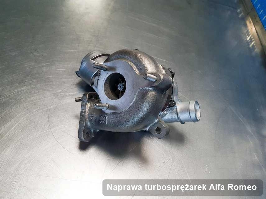 Turbosprężarka do samochodu osobowego spod znaku Alfa Romeo wyczyszczona w przedsiębiorstwie gdzie realizuje się serwis Naprawa turbosprężarek