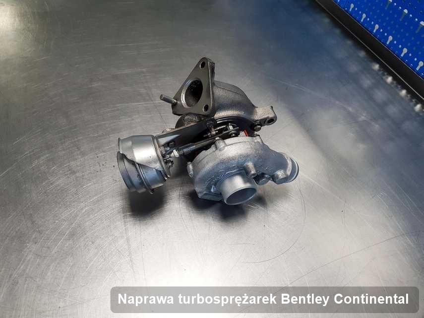 Turbosprężarka do auta osobowego spod znaku Bentley Continental zregenerowana w laboratorium gdzie przeprowadza się  serwis Naprawa turbosprężarek