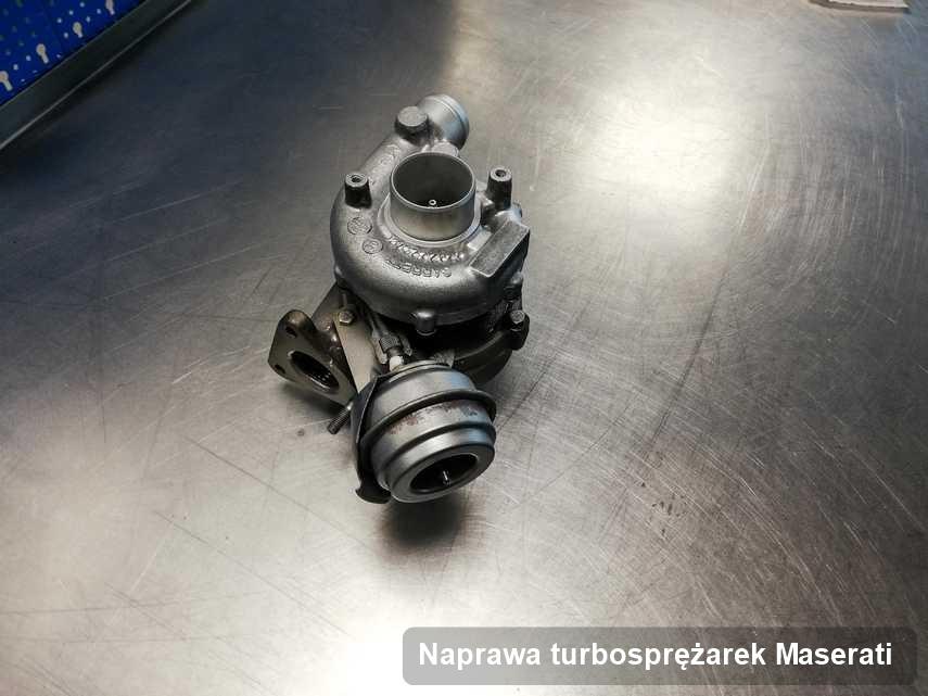 Turbosprężarka do diesla producenta Maserati wyczyszczona w pracowni gdzie wykonuje się usługę Naprawa turbosprężarek