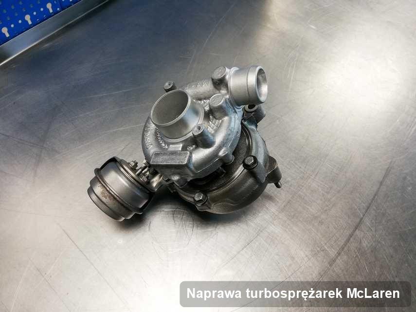 Turbosprężarka do samochodu osobowego spod znaku McLaren wyremontowana w firmie gdzie realizuje się usługę Naprawa turbosprężarek