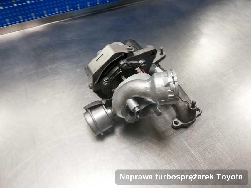 Turbina do samochodu osobowego producenta Toyota po remoncie w laboratorium gdzie zleca się usługę Naprawa turbosprężarek