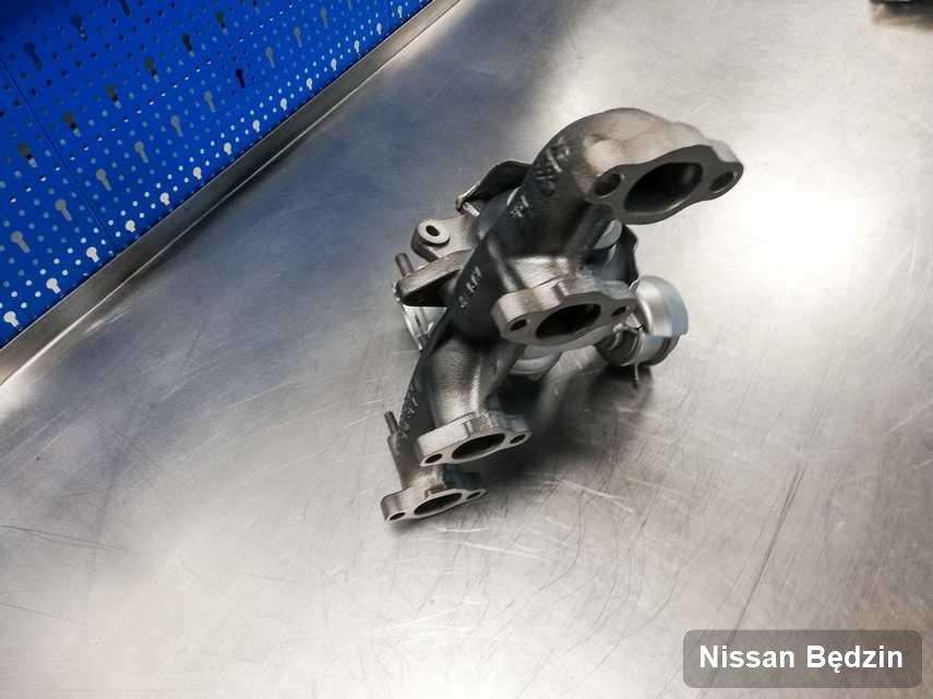 Naprawiona w firmie w Będzinie turbina do pojazdu firmy Nissan przyszykowana w pracowni po remoncie przed nadaniem
