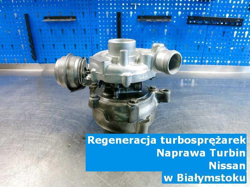 Turbosprężarka z samochodu Nissan po przywróceniu osiągów w Białymstoku