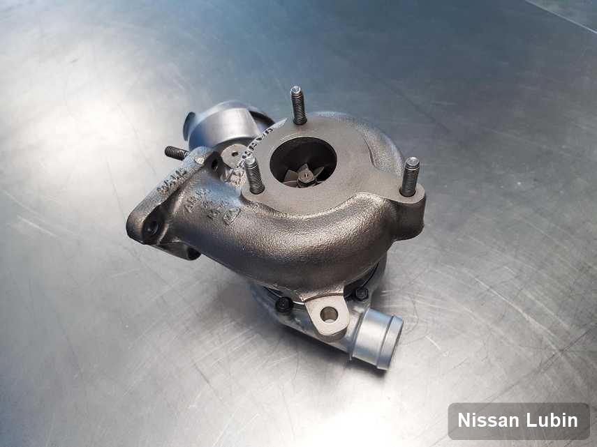 Zregenerowana w pracowni regeneracji w Lubinie turbosprężarka do pojazdu koncernu Nissan przygotowana w laboratorium po remoncie przed wysyłką