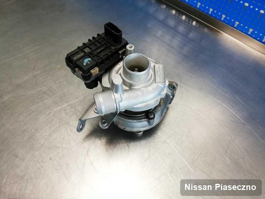 Wyczyszczona w firmie zajmującej się regeneracją w Piasecznie turbosprężarka do aut  firmy Nissan przygotowana w warsztacie zregenerowana przed spakowaniem