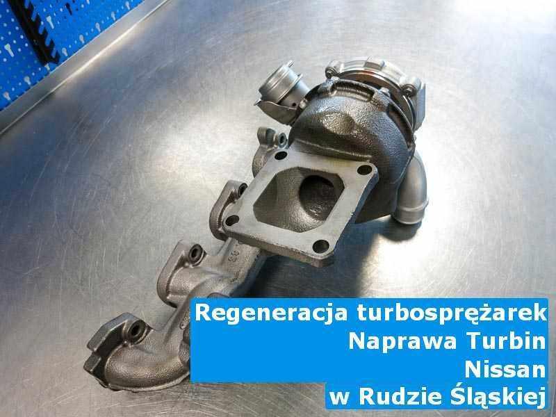 Wyczyszczona w firmie zajmującej się regeneracją w Rudzie Śląskiej turbina do osobówki koncernu Nissan na stole w warsztacie naprawiona przed wysyłką