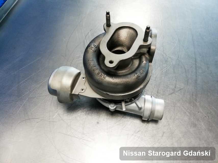 Naprawiona w przedsiębiorstwie w Starogardzie Gdańskim turbina do osobówki z logo Nissan przyszykowana w warsztacie wyremontowana przed nadaniem