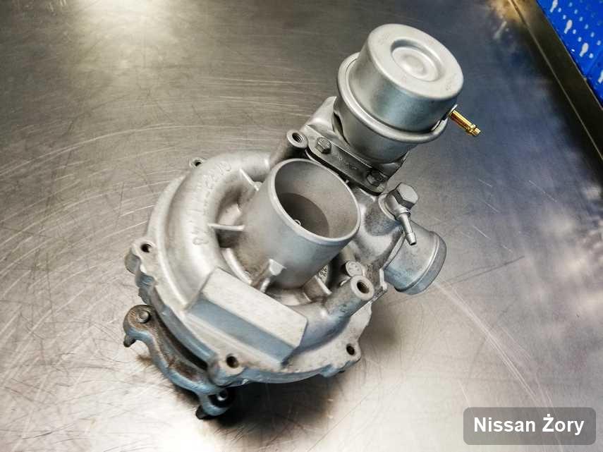 Wyremontowana w laboratorium w Żorach turbina do auta firmy Nissan przyszykowana w laboratorium wyremontowana przed nadaniem