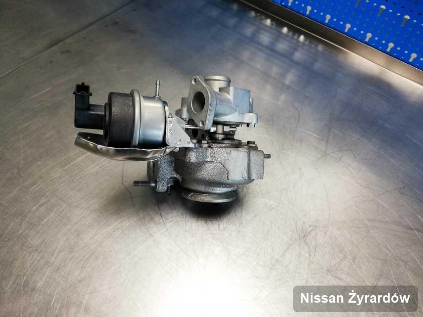 Wyczyszczona w pracowni w Żyrardowie turbina do samochodu producenta Nissan przyszykowana w laboratorium po remoncie przed wysyłką