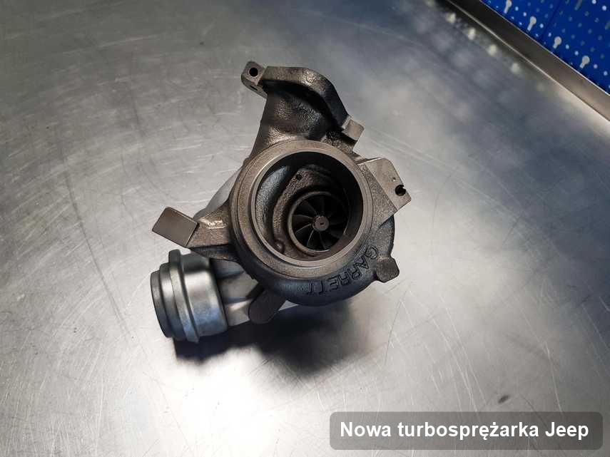 Turbosprężarka do auta osobowego firmy Jeep naprawiona w firmie gdzie wykonuje się usługę Nowa turbosprężarka