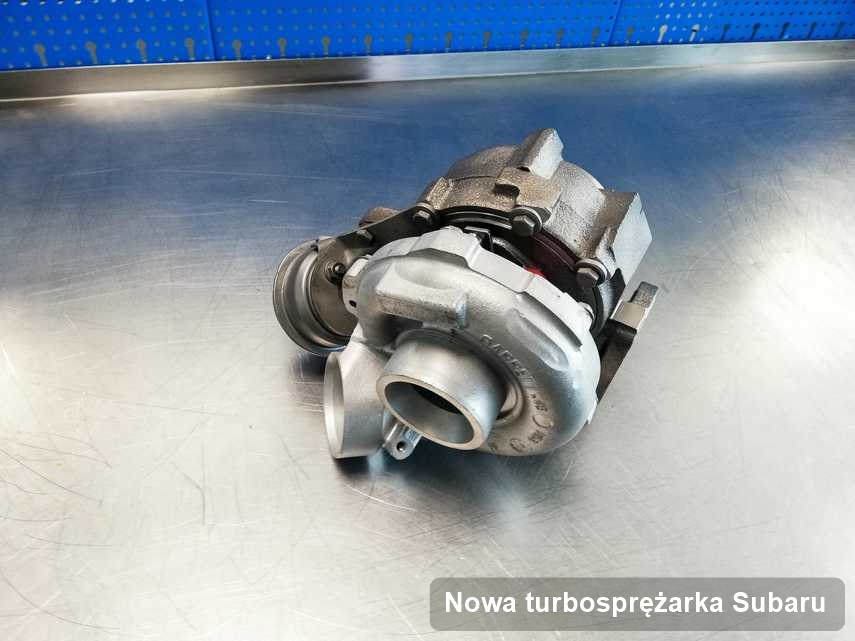 Turbosprężarka do osobówki z logo Subaru naprawiona w firmie gdzie wykonuje się usługę Nowa turbosprężarka