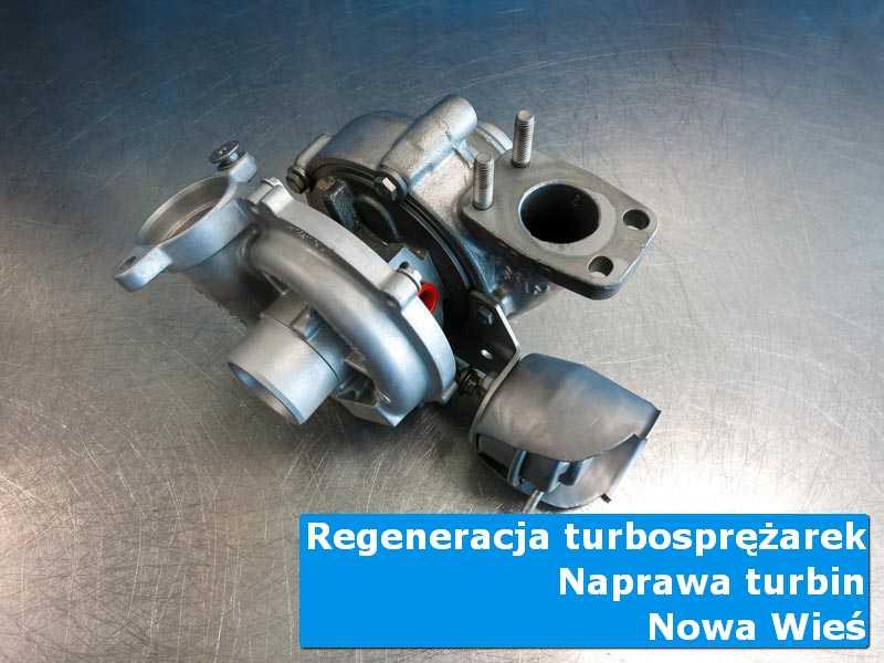 Turbosprężarka przed demontażem w laboratorium z Nowej Wsi