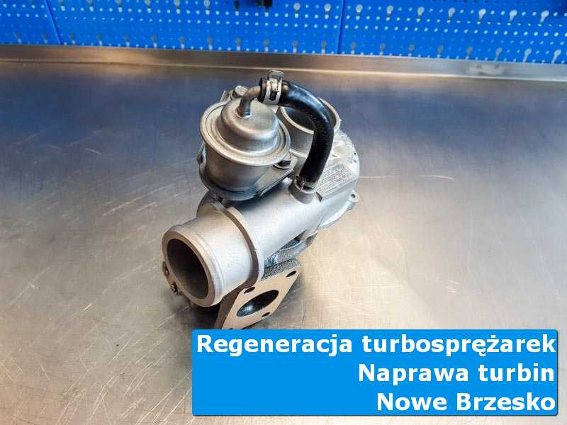 Turbosprężarka przed wymianą w warsztacie w Nowym Brzesku