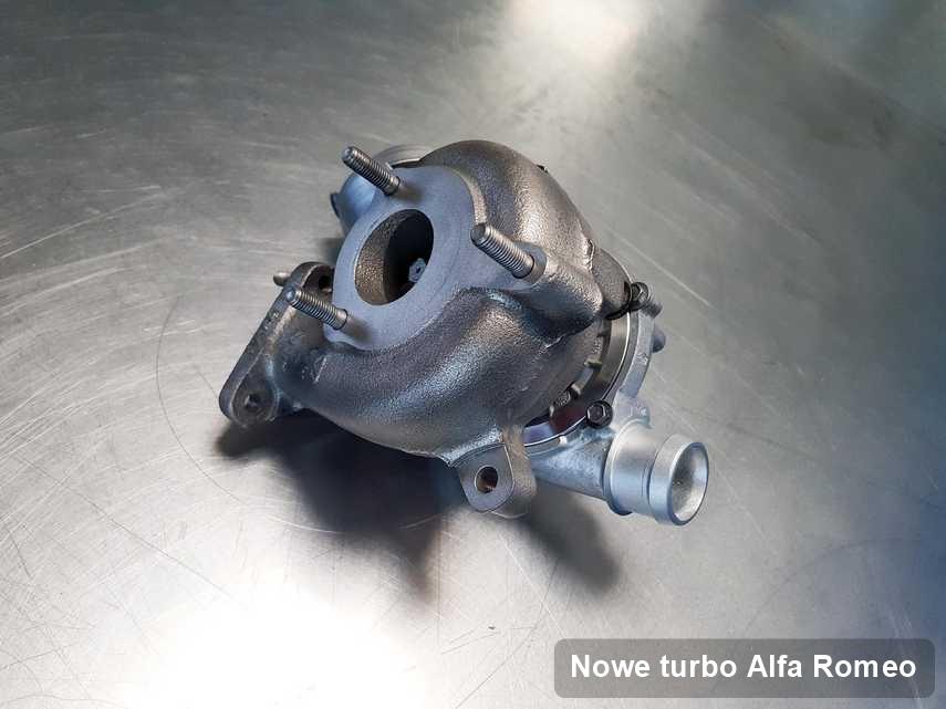 Turbina do auta osobowego sygnowane logiem Alfa Romeo naprawiona w firmie gdzie przeprowadza się  serwis Nowe turbo