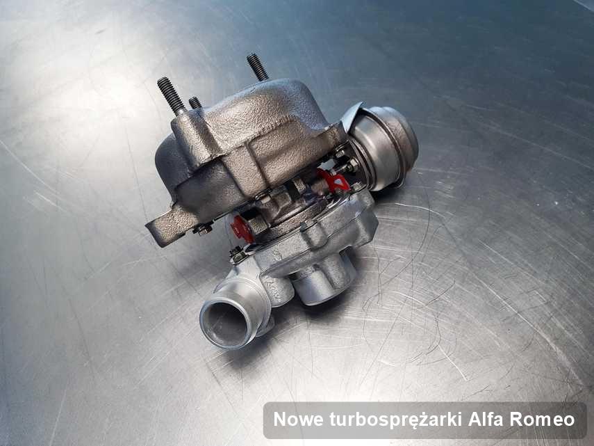 Turbosprężarka do samochodu osobowego marki Alfa Romeo zregenerowana w laboratorium gdzie wykonuje się serwis Nowe turbosprężarki