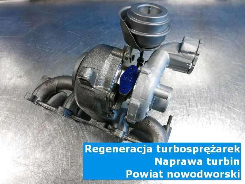 Turbina przed wymianą w specjalistycznej pracowni, powiat nowodworski (pomorskie)