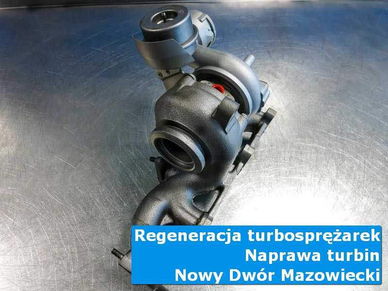 Układ turbodoładowania przed montażem w pracowni w Nowym Dworze Mazowieckim