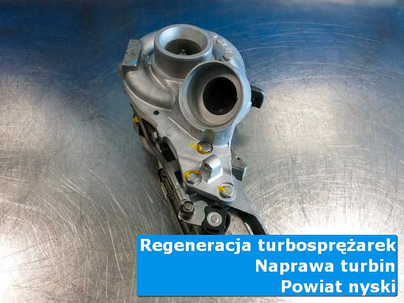 Turbosprężarka po regeneracji w nowoczesnej pracowni, powiat nyski