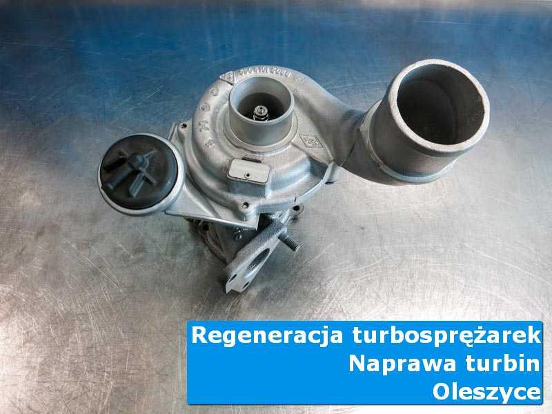 Układ turbodoładowania przed montażem na stole w pracowni w Oleszycach