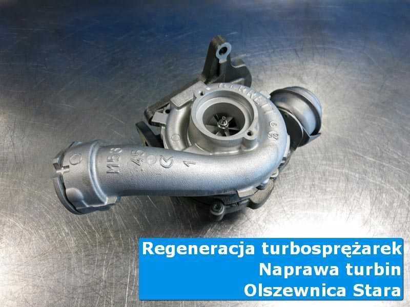 Układ turbodoładowania po przywróceniu sprawności na stole w laboratorium z Olszewnicy Starej