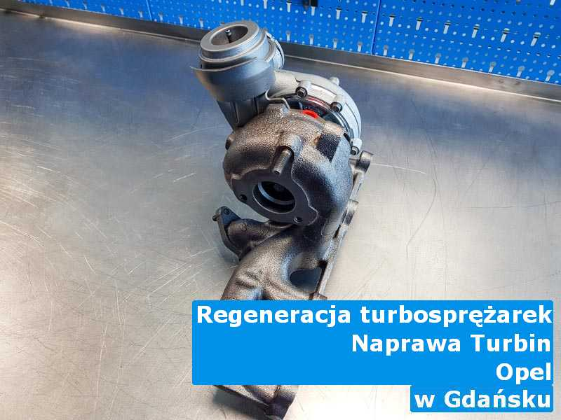 Turbosprężarka marki Opel po sprawdzeniu z Gdańska