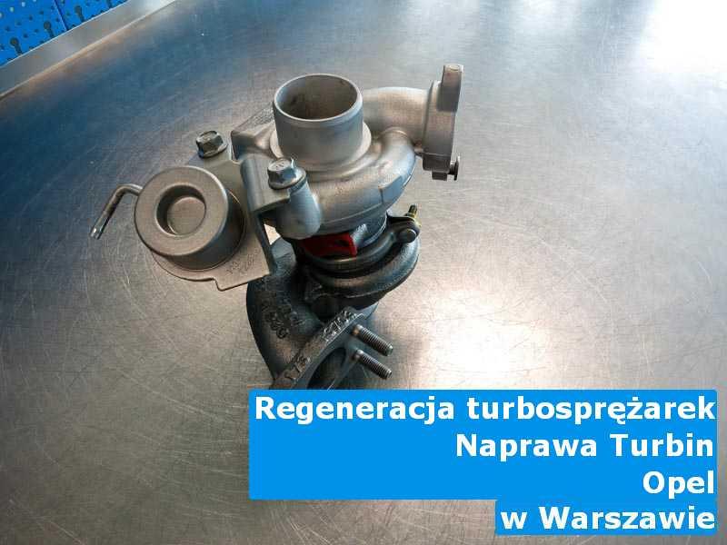 Turbosprężarka z samochodu Opel po procesie regeneracji z Warszawy