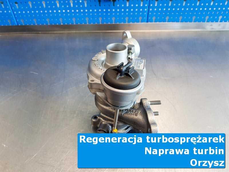 Turbosprężarka przed wymianą w pracowni w Orzyszu