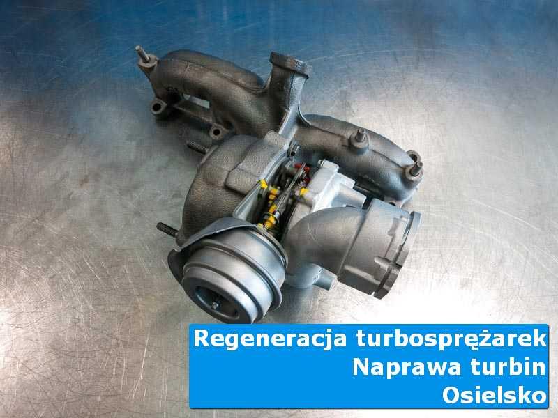 Turbosprężarka po wymianie na stole w laboratorium z Osielska