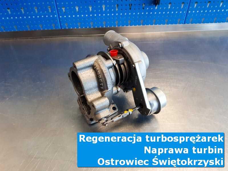 Turbosprężarka przed montażem w laboratorium w Ostrowcu Świętokrzyskim
