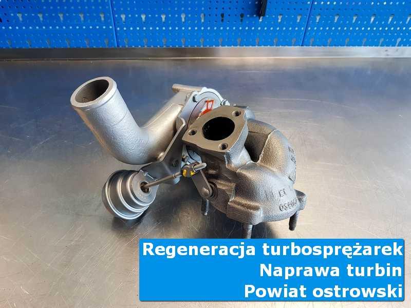 Turbina po regeneracji w pracowni, powiat ostrowski (wielkopolskie)