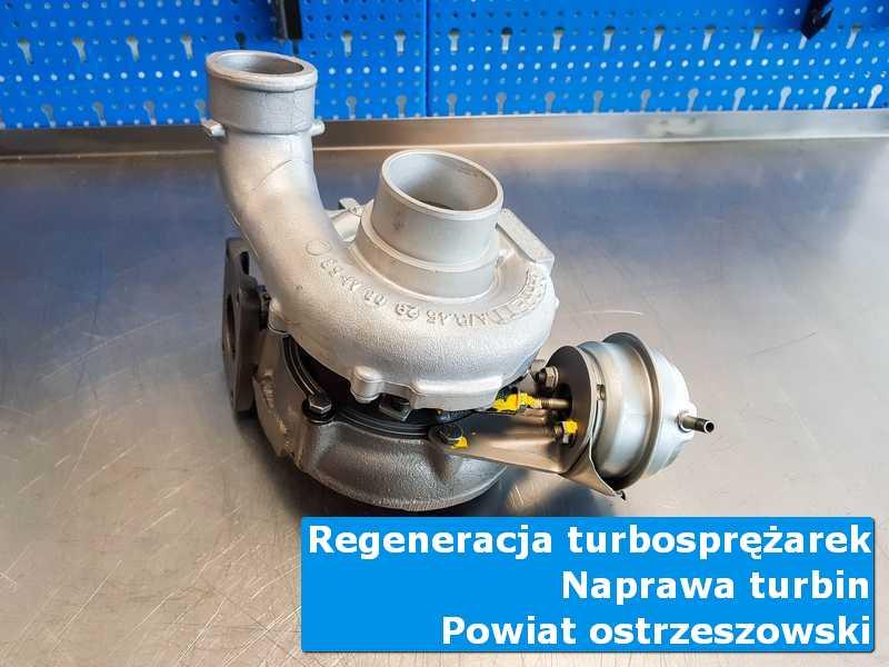 Turbosprężarka po wyważaniu w profesjonalnym serwisie, powiat ostrzeszowski