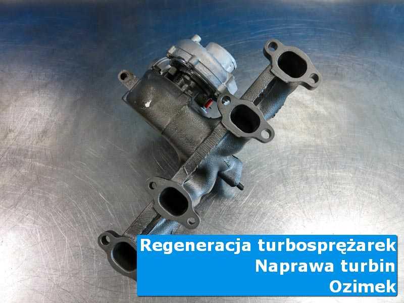 Układ turbodoładowania przed montażem na stole pracowniczym w Ozimku