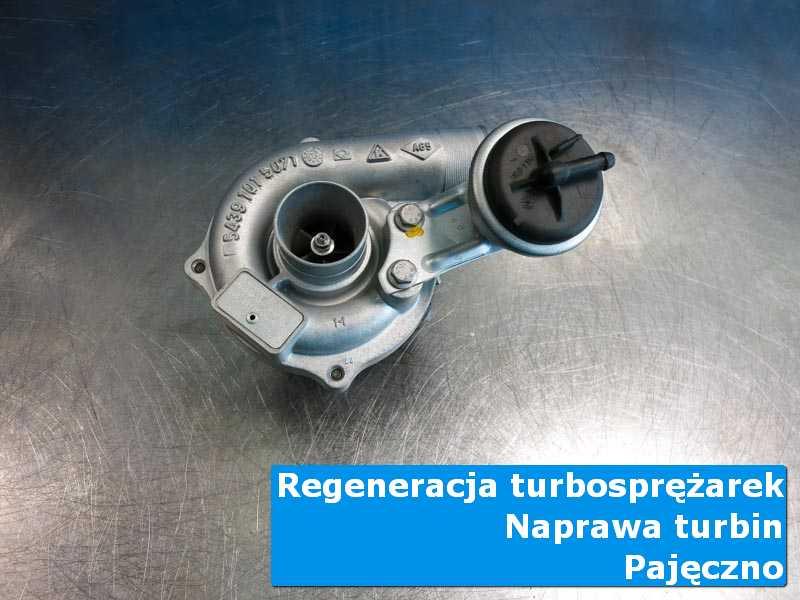 Układ turbodoładowania po wyważaniu na stole w pracowni w Pajęcznie