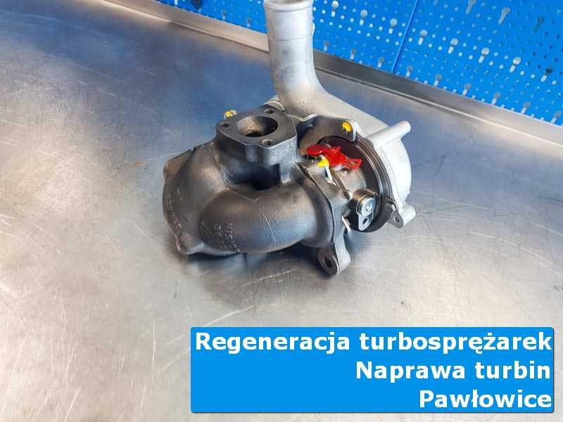 Układ turbodoładowania po regeneracji na stole pracowniczym w Pawłowicach